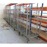 8 mobile steel Trolley/Cages