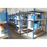 24 bays of medium weight Racking/Shelving, 24in width/depth