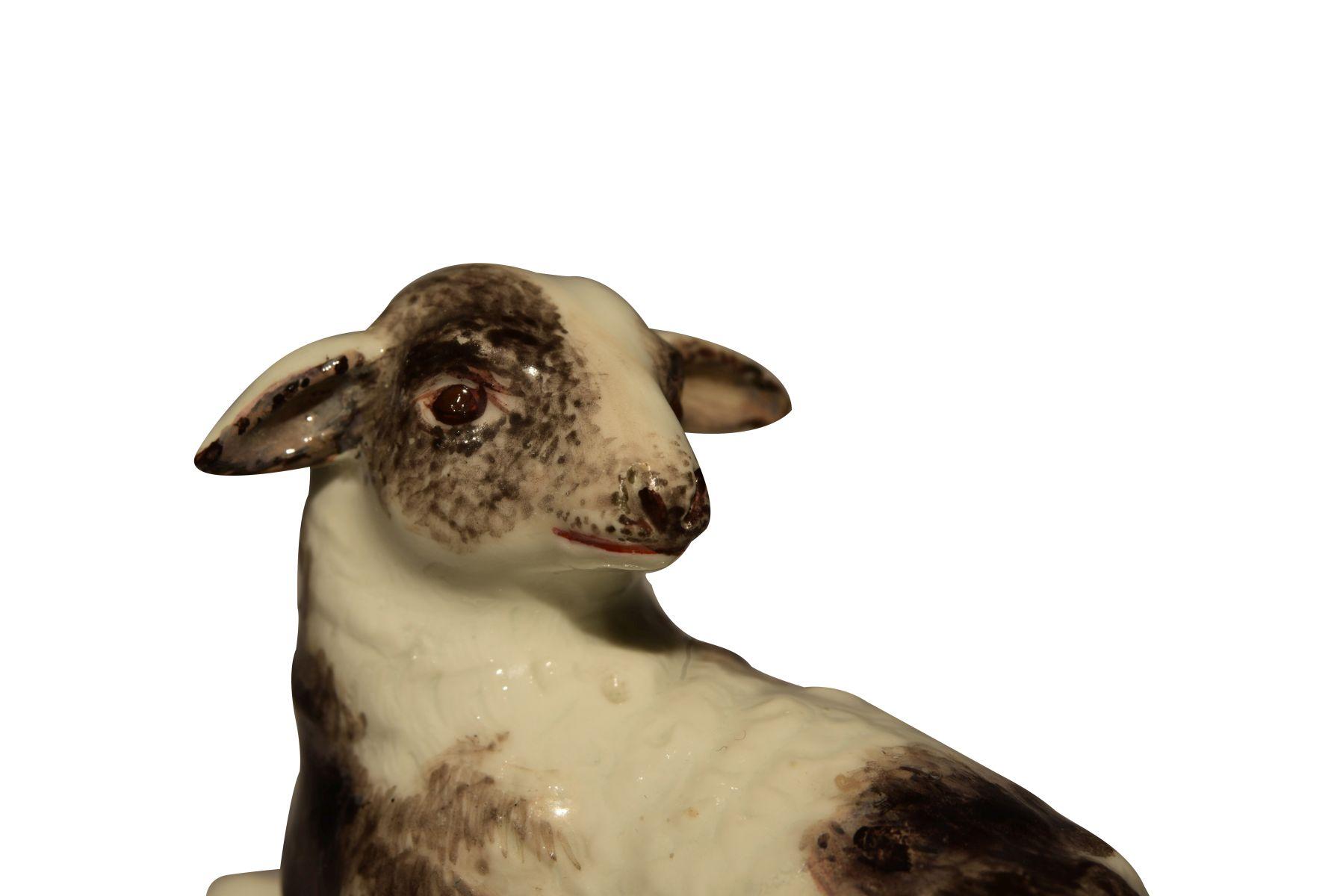 """""""Liegendes Schaf"""" Meissen 1750 - Bild 5 aus 6"""