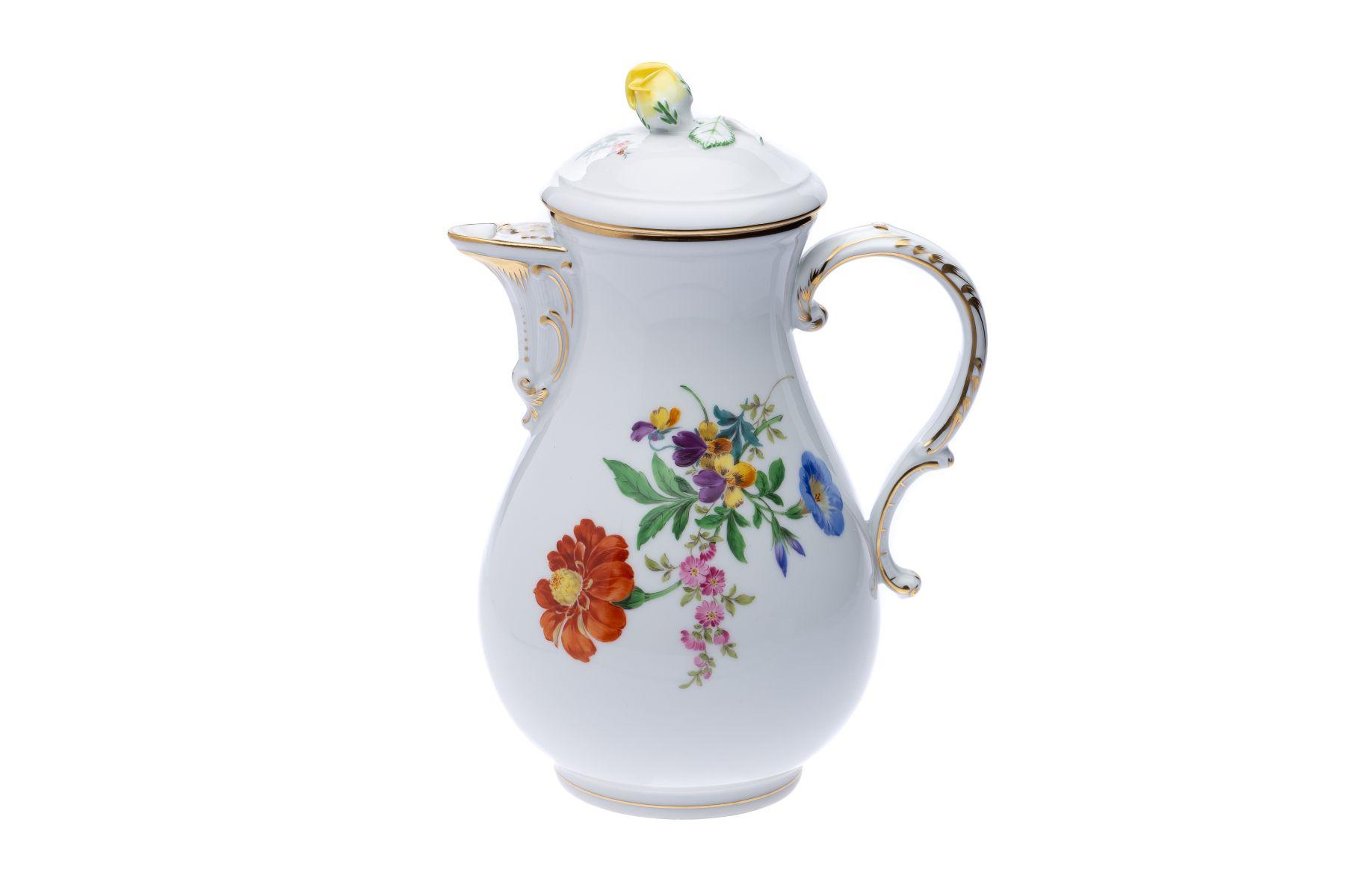 """Meissen Kaffeeservice """"3 Blumen"""" 22 teilig - Bild 14 aus 15"""