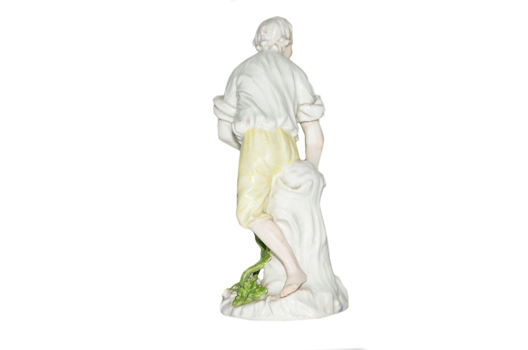 2 Figuren Gärtner und Gärtnerin mit Wasserkannen Meissen 1750 - Bild 5 aus 5