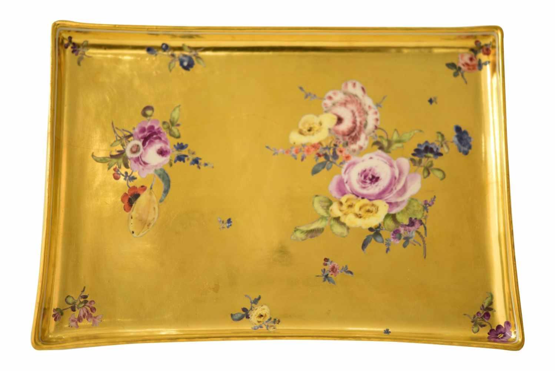 Platte Goldfond, Meissen 1740