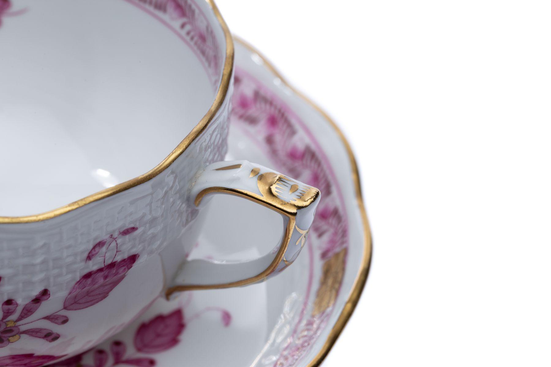 """Kaffeeservice Form Osier Dekor """"Indischer Korb"""" - Bild 3 aus 15"""
