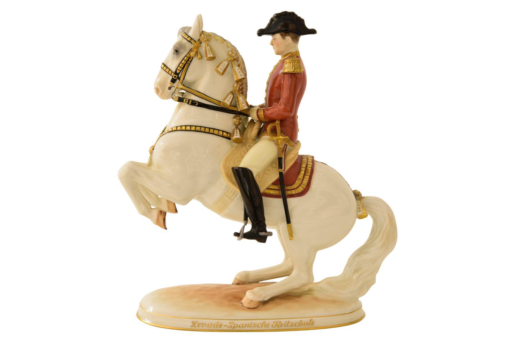 Pferd mit Reiter Augarten