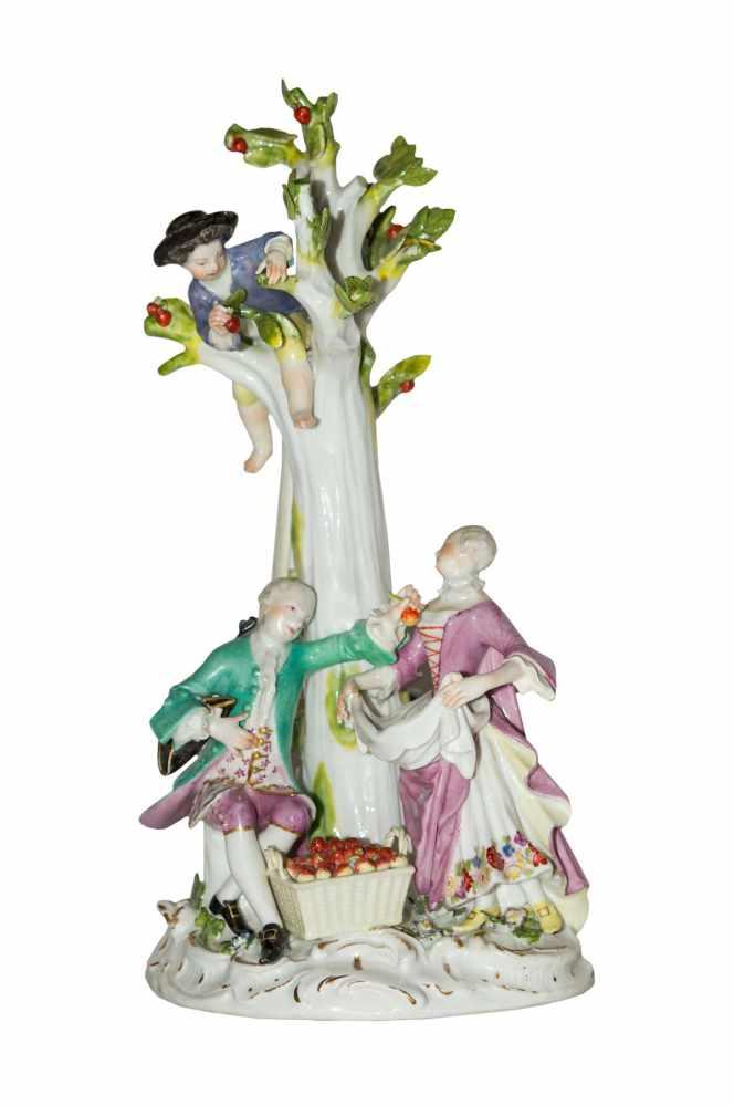 """Kaendler Figurengruppe """" Die Apfelpflücker"""" Meissen um 1755"""