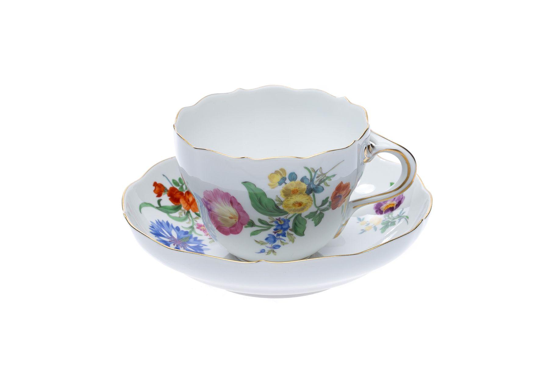"""Meissen Kaffeeservice """"3 Blumen"""" 22 teilig - Bild 2 aus 15"""