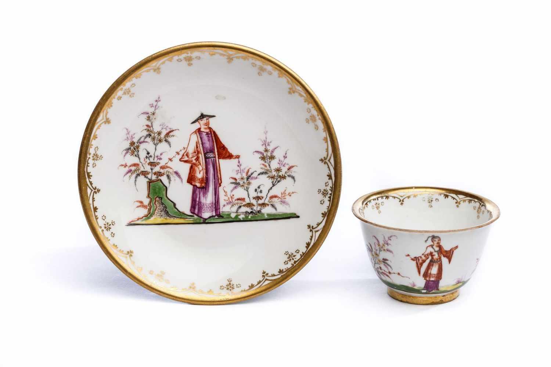 Koppchen mit Unterschale, Meissen 1720-25