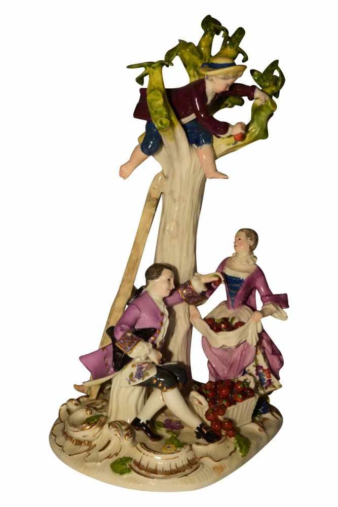1 Gruppe Apfelpflücker Meissen 1750 - Bild 2 aus 8