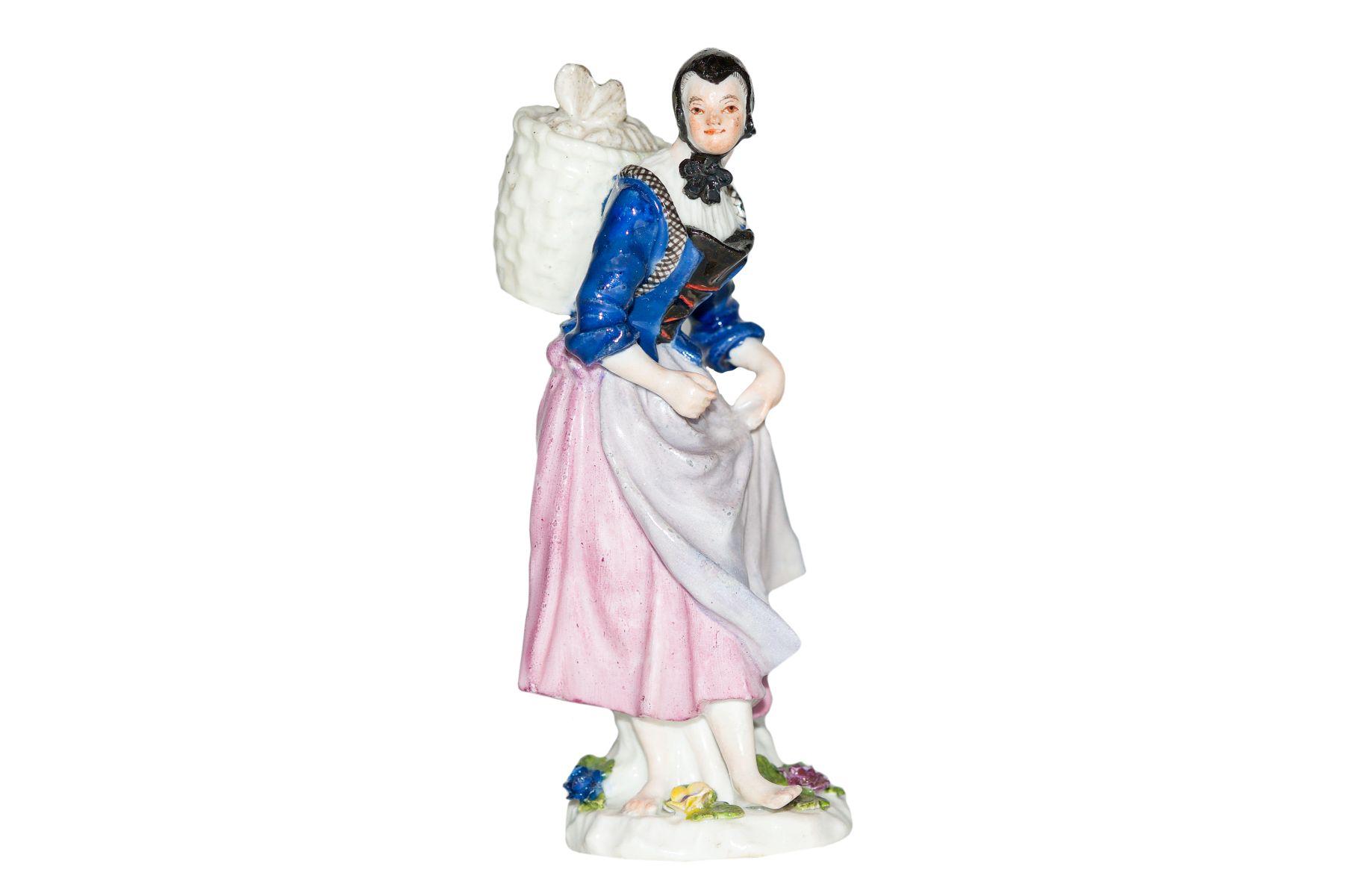 Marktfrau mit Kippe Meissen 1750
