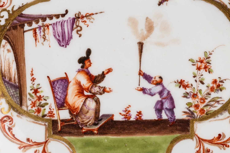 Koppchen mit Unterschale, Meissen 1720/25 - Bild 2 aus 6