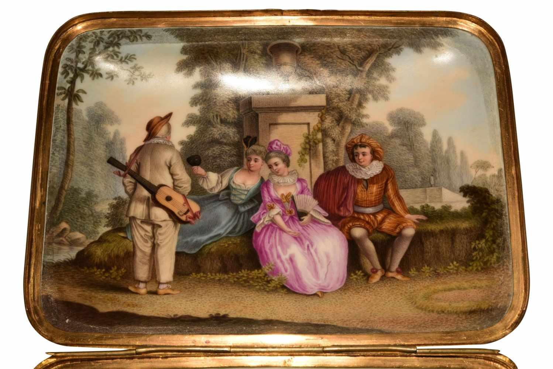 Große Tabatiere Meissen um 1800 - Bild 7 aus 9