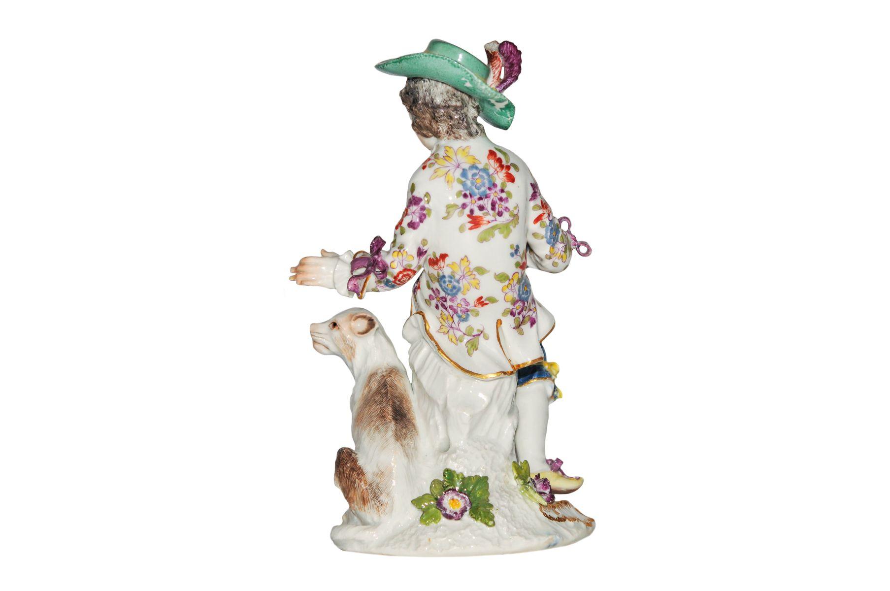 Kavalier mit Hund Meissen 1750 - Bild 2 aus 2