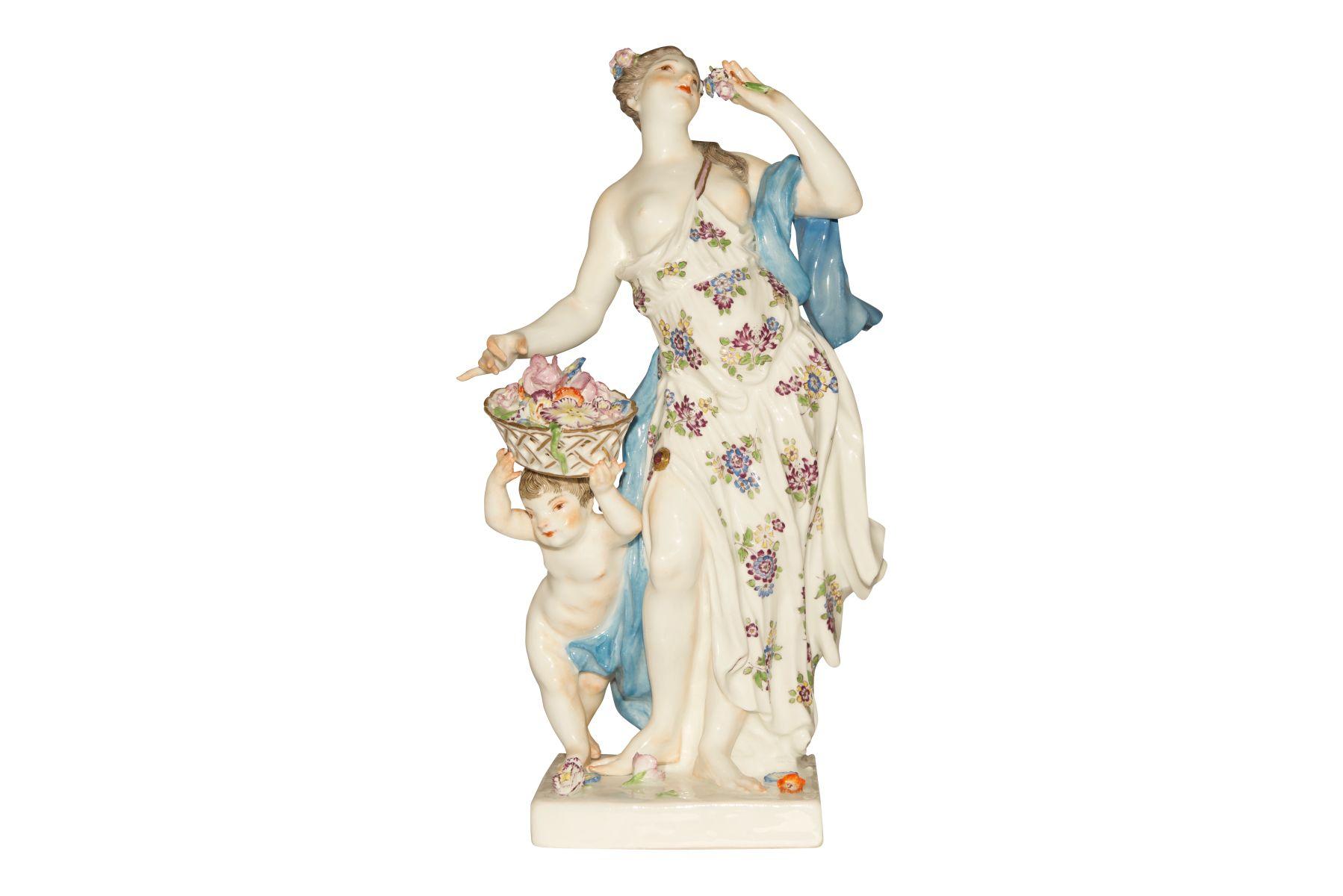 """Frühling"" Figur Meissen 1750"