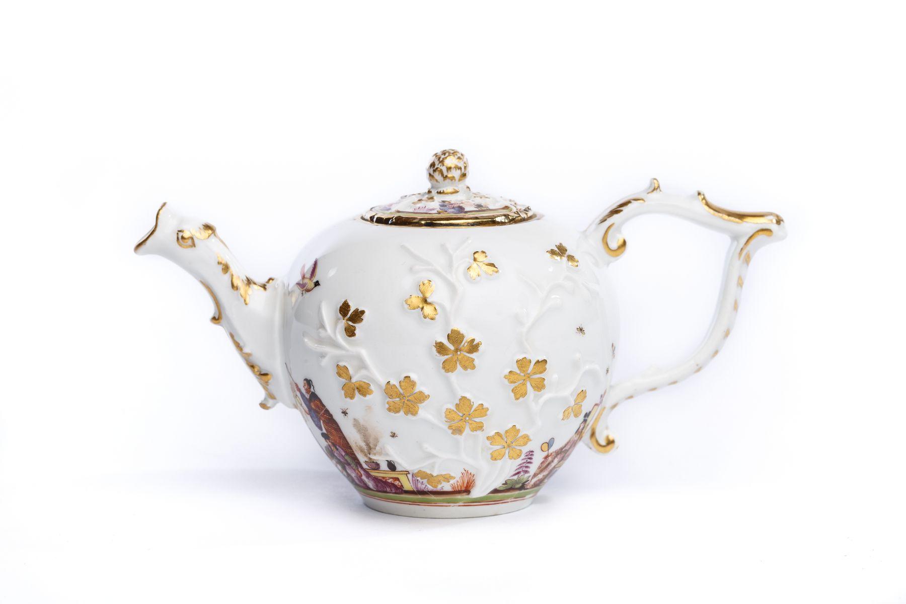 Teekanne, Meissen 1730