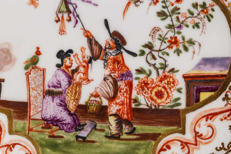 Koppchen mit Unterschale, Meissen 1725, - Bild 2 aus 6