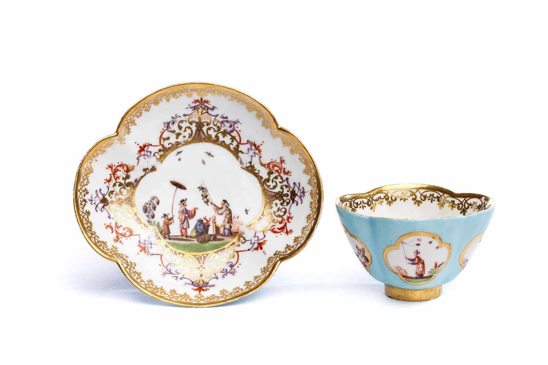 Koppchen mit Unterschale, Meissen 1720/30