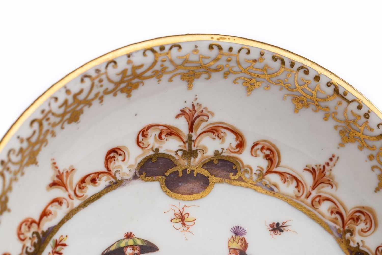 Koppchen mit Unterschale, Meissen 1723/24 - Bild 3 aus 6