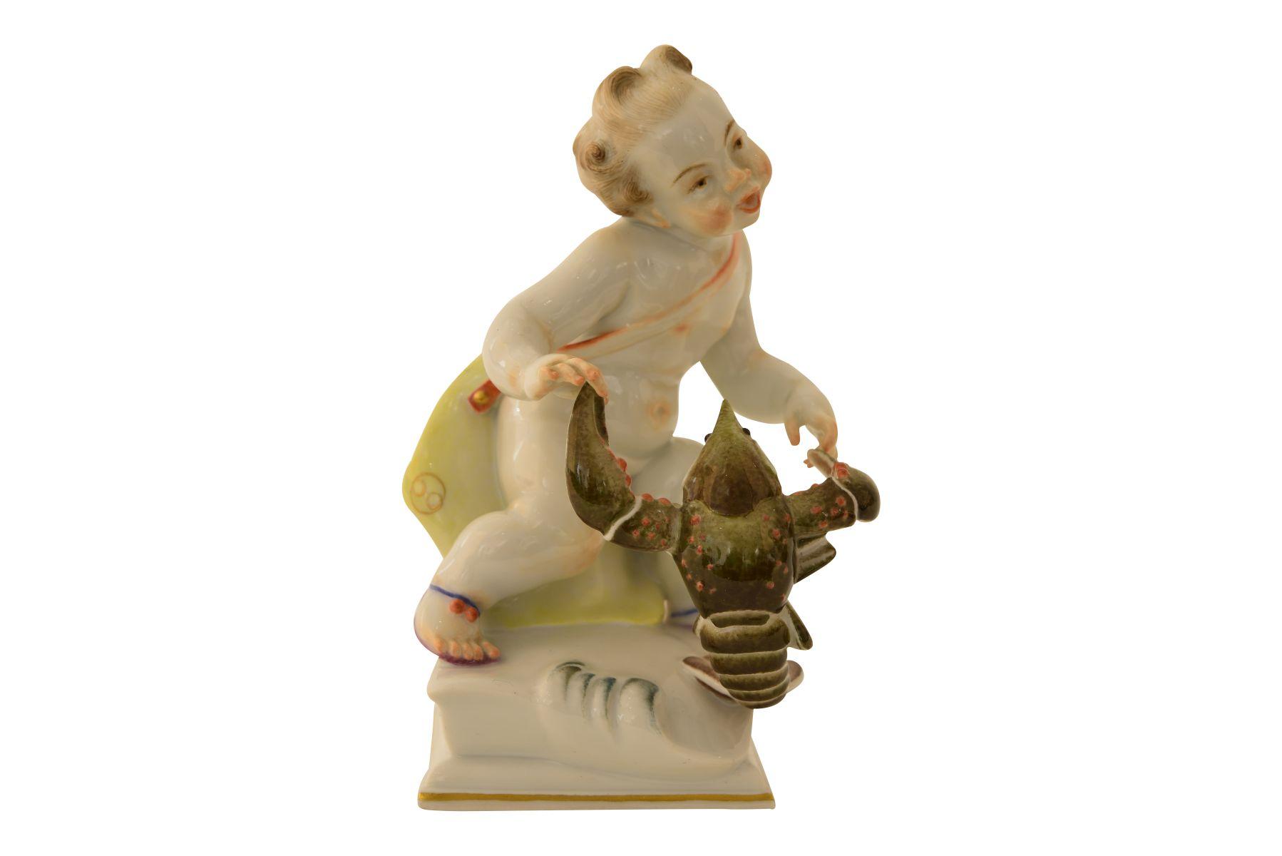 """Meissen Figur """"Sternzeichen Krebs"""""""