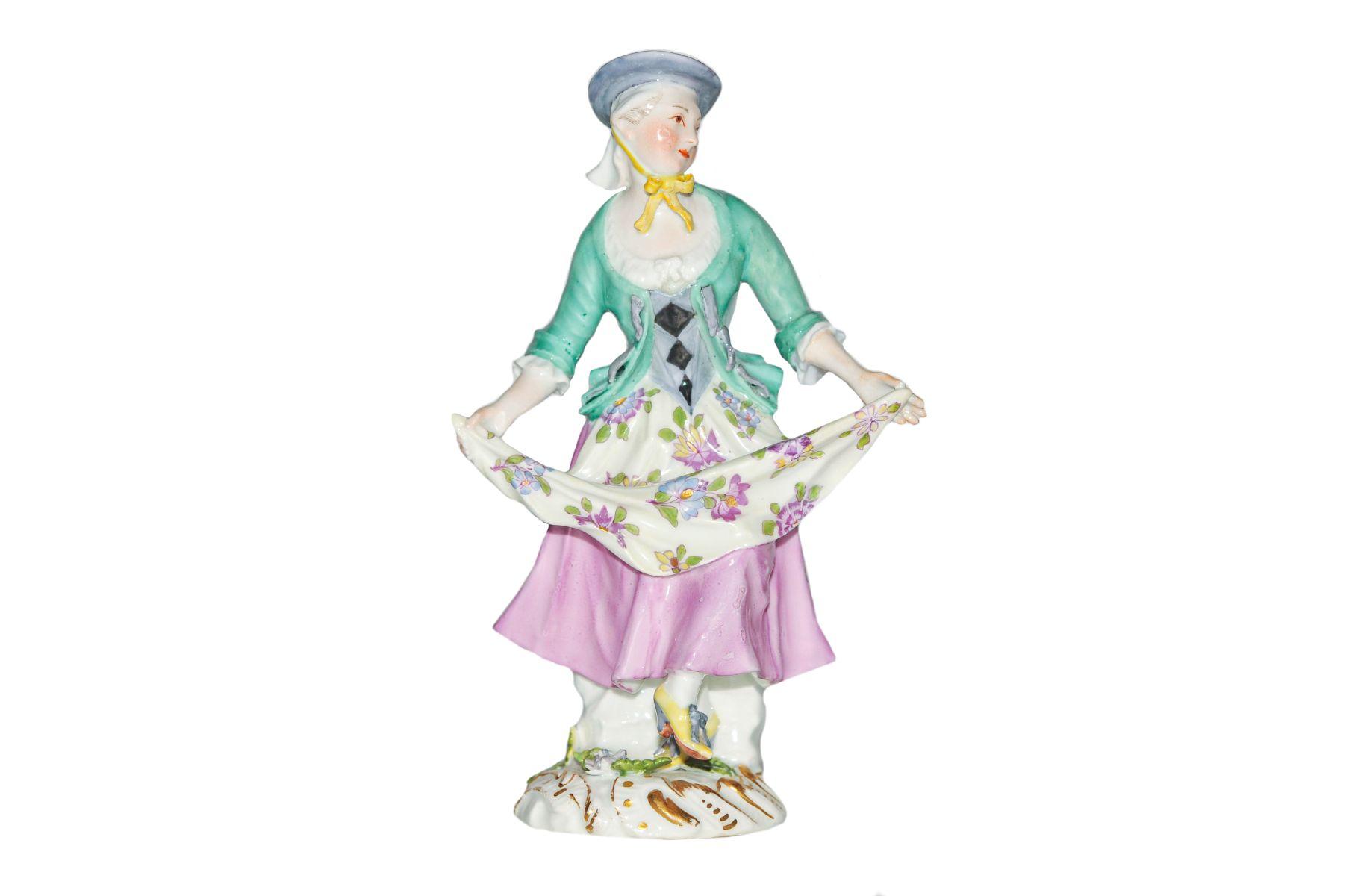Tanzende Tirolerin Meissen 1750