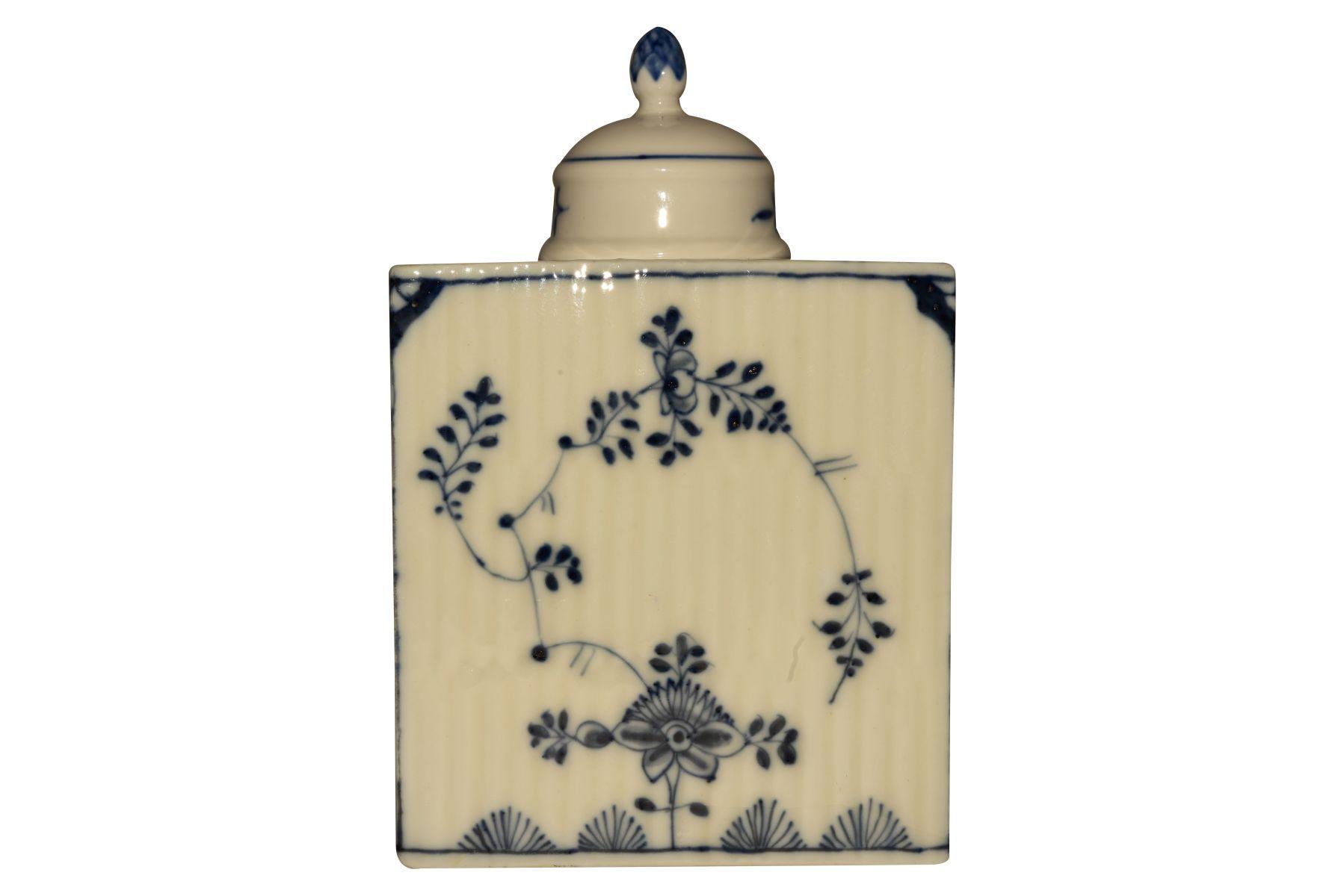 Teedosee mit Deckel, Meissen 1750 - Bild 3 aus 5