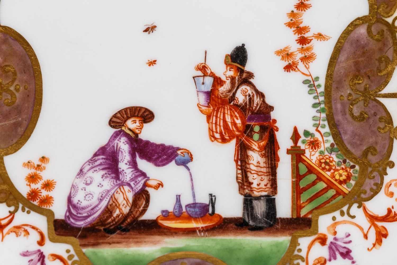 Koppchen mit Unterschale, Meissen 1723/25 - Bild 2 aus 6