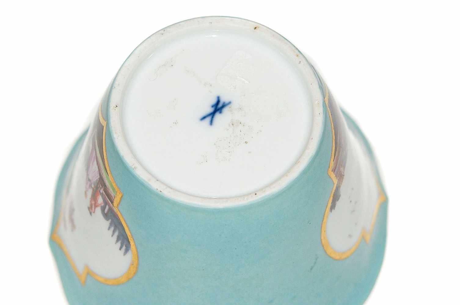 Zierbecher mit Watteauszenen - Bild 3 aus 3