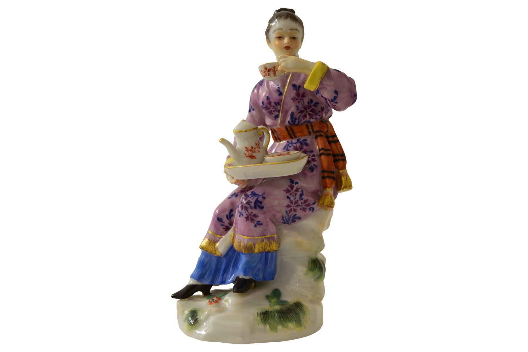 """Kleine Figur """"Japanerin"""" Meissen"""
