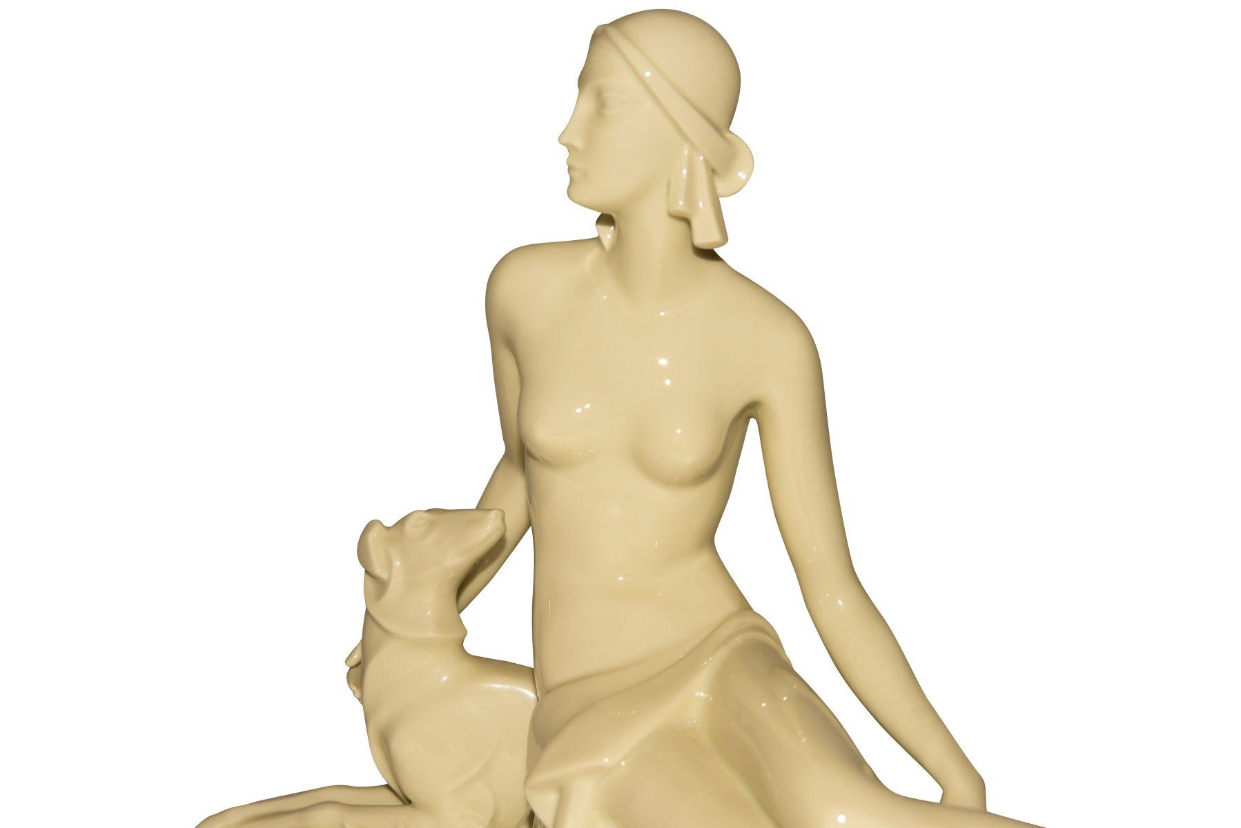 Diana mit Windhund Rosenthal - Bild 3 aus 4