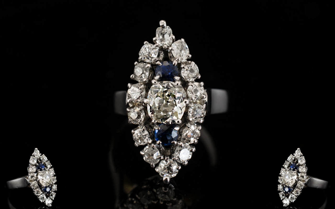 Lot 20 - 18ct White Gold Marquis Shaped Diamond C