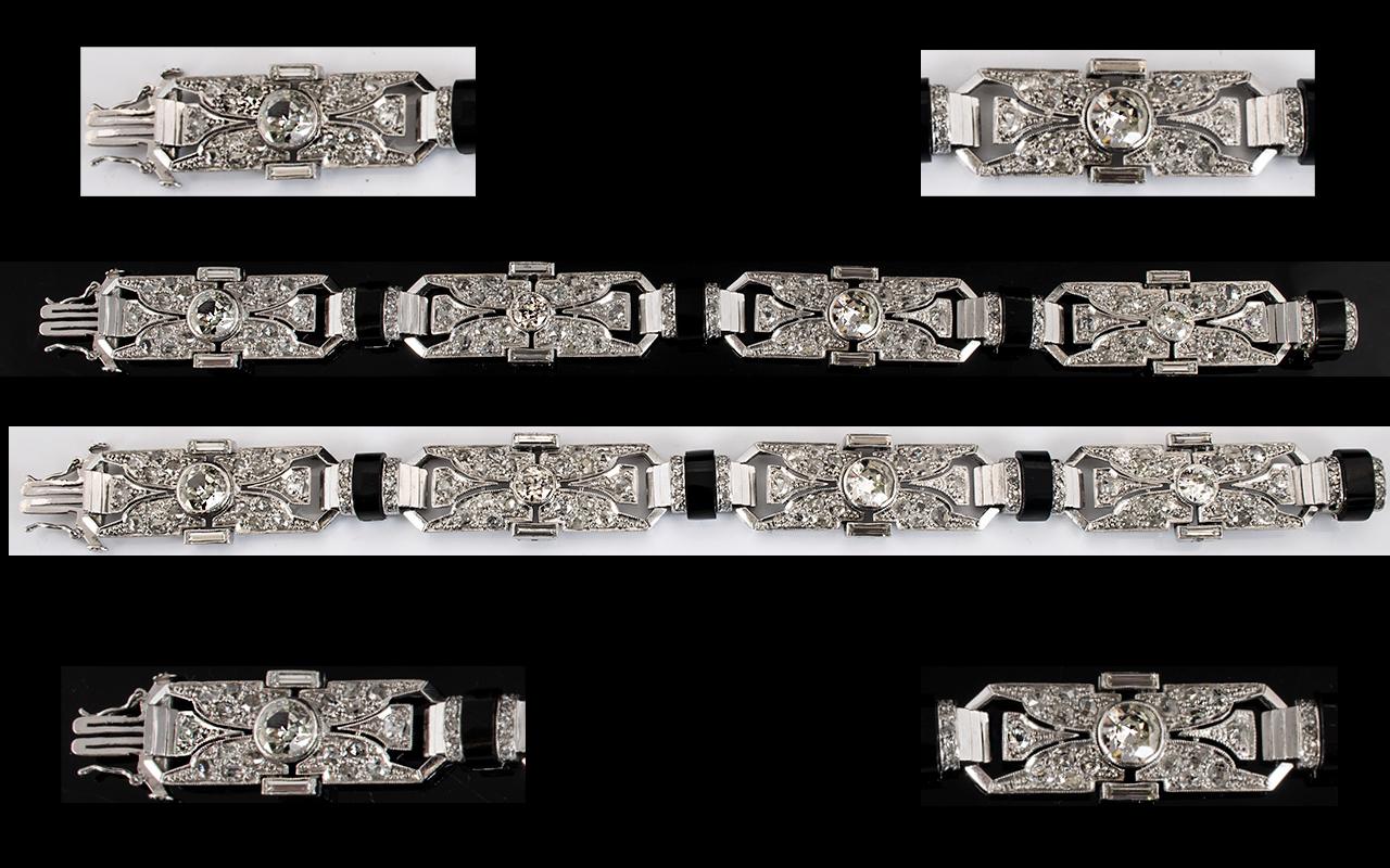 Lot 75 - Art Deco Period Superb Quality Platinum