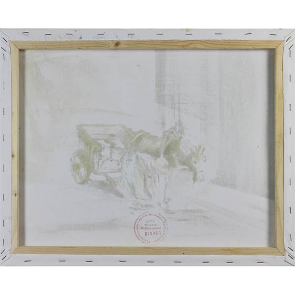 Witcomb, Philip Contemporary British AR, Donkey and Cart. - Image 2