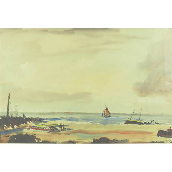 Suddaby, Rowland 1912-1972 British AR, Beach at West Wersea, Essex - Image 1