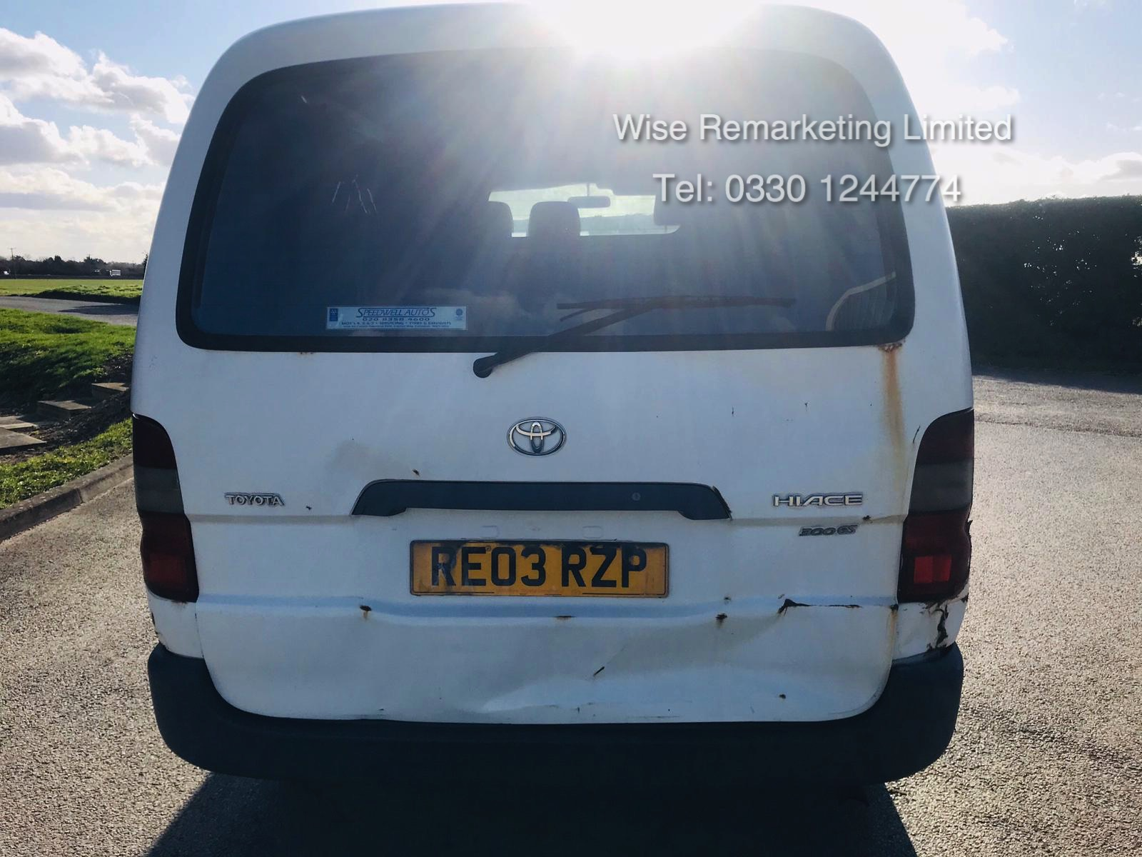 Toyota Hiace 300 GS 2.5 D4D - 2003 03 Reg - 1 Keeper From New - 3 Seater - Roof Rack - Image 5 of 15