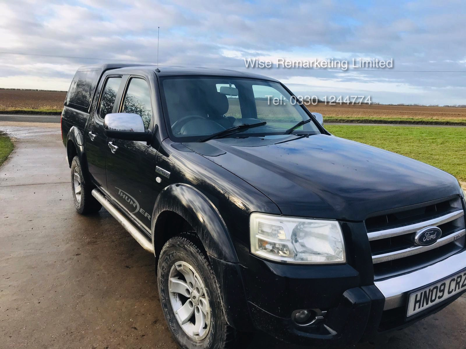 (RESERVE MET) Ford Ranger Thunder 2.5 Double Cab Pick Up - 2009 09 Reg - 4x4 - Service History - Image 4 of 17