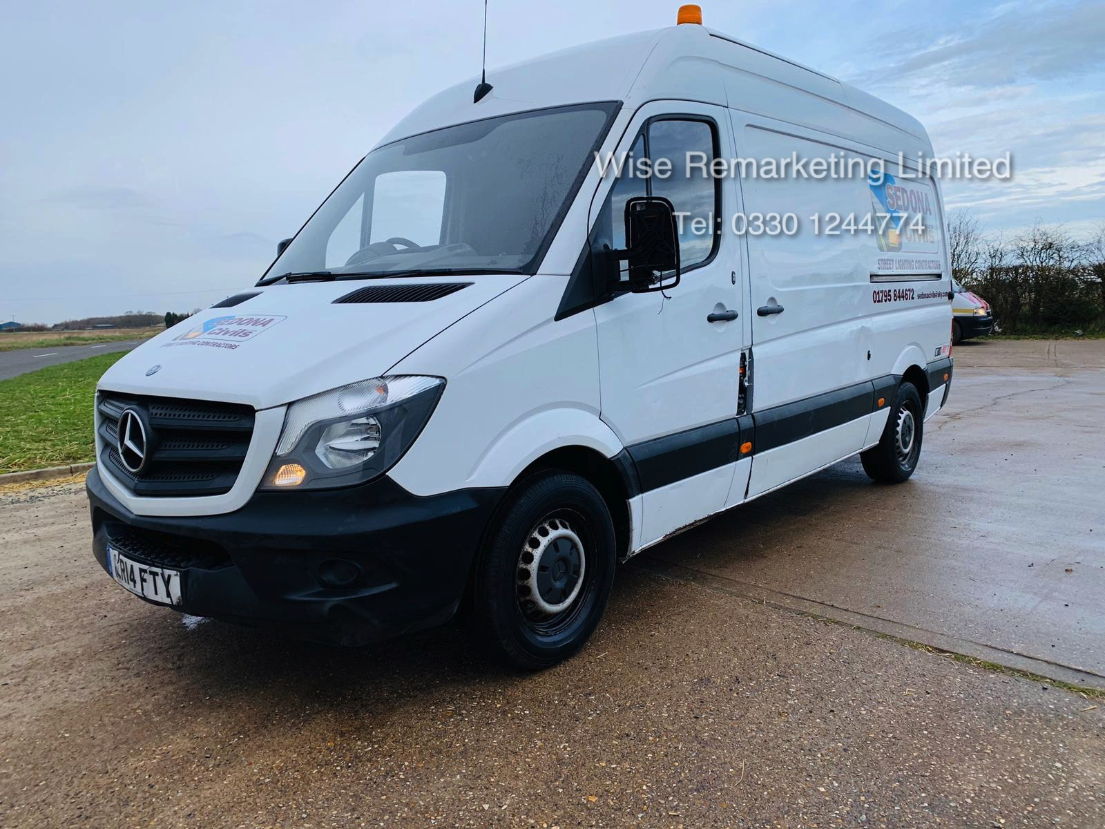 Mercedes Sprinter 313 2.1 CDI - 2014 14 Reg - 6 Speed - Ply Lined - Company Owned - Image 2 of 18