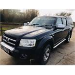 (RESERVE MET) Ford Ranger Thunder 2.5 Double Cab Pick Up - 2009 09 Reg - 4x4 - Service History