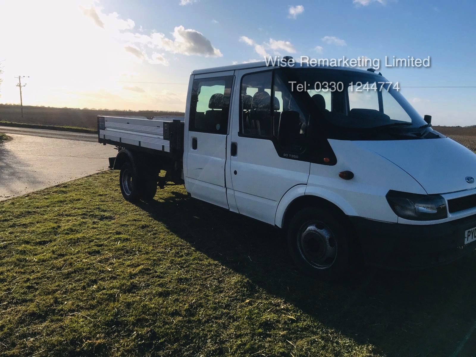 Ford Transit 350 Crew Cab Tipper LWB - 2005 05 Reg - 6 Seater - SAVE 20% NO VAT