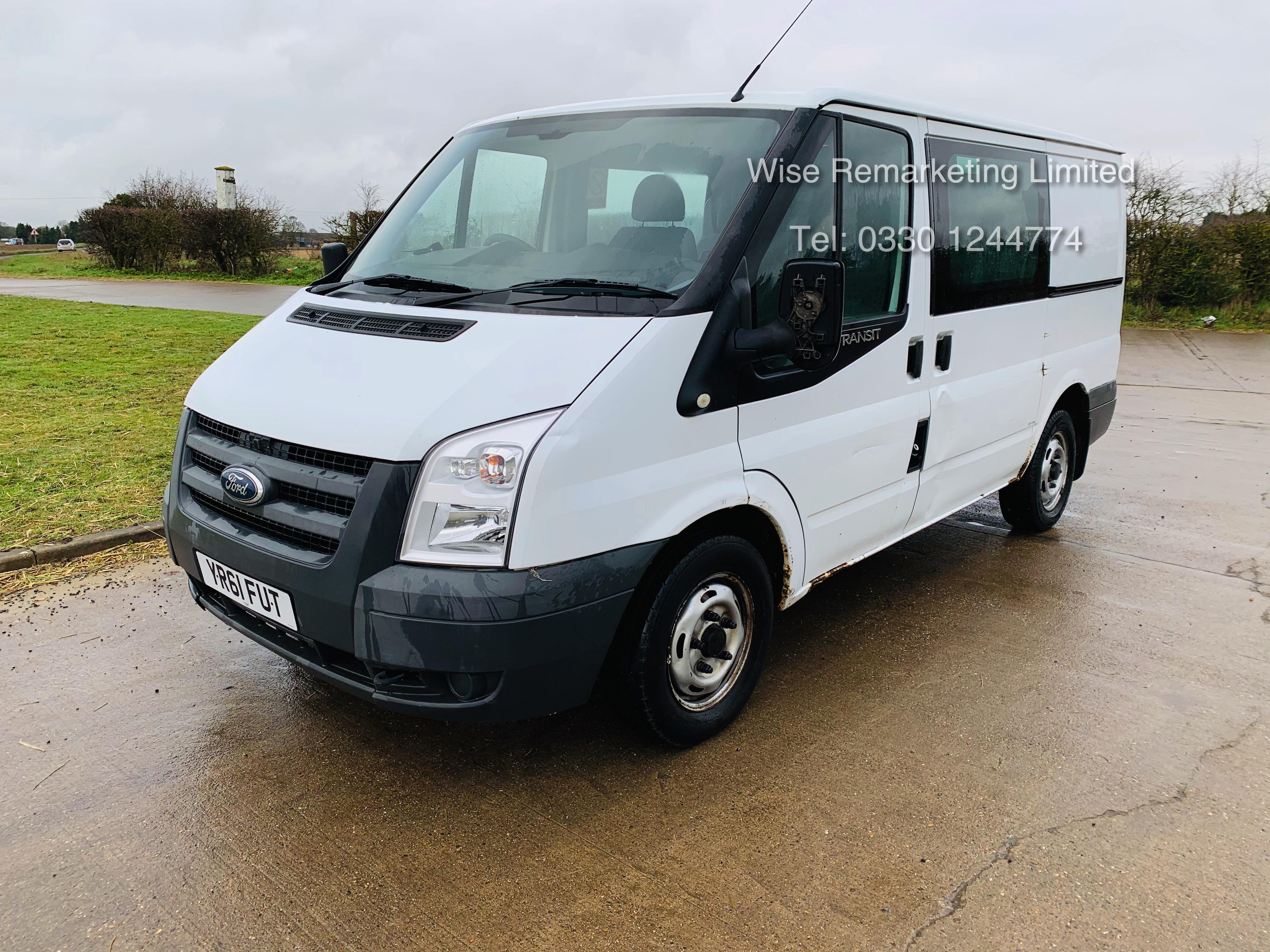 (RESERVE MET) Ford Transit T280 2.2 TDCI Dualliner Crew Van (6 Seater) - 2012 Model - 1 Year MOT