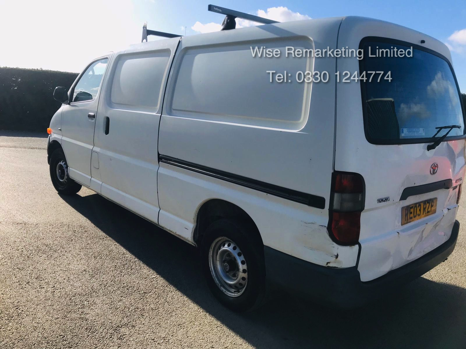 Toyota Hiace 300 GS 2.5 D4D - 2003 03 Reg - 1 Keeper From New - 3 Seater - Roof Rack - Image 3 of 15
