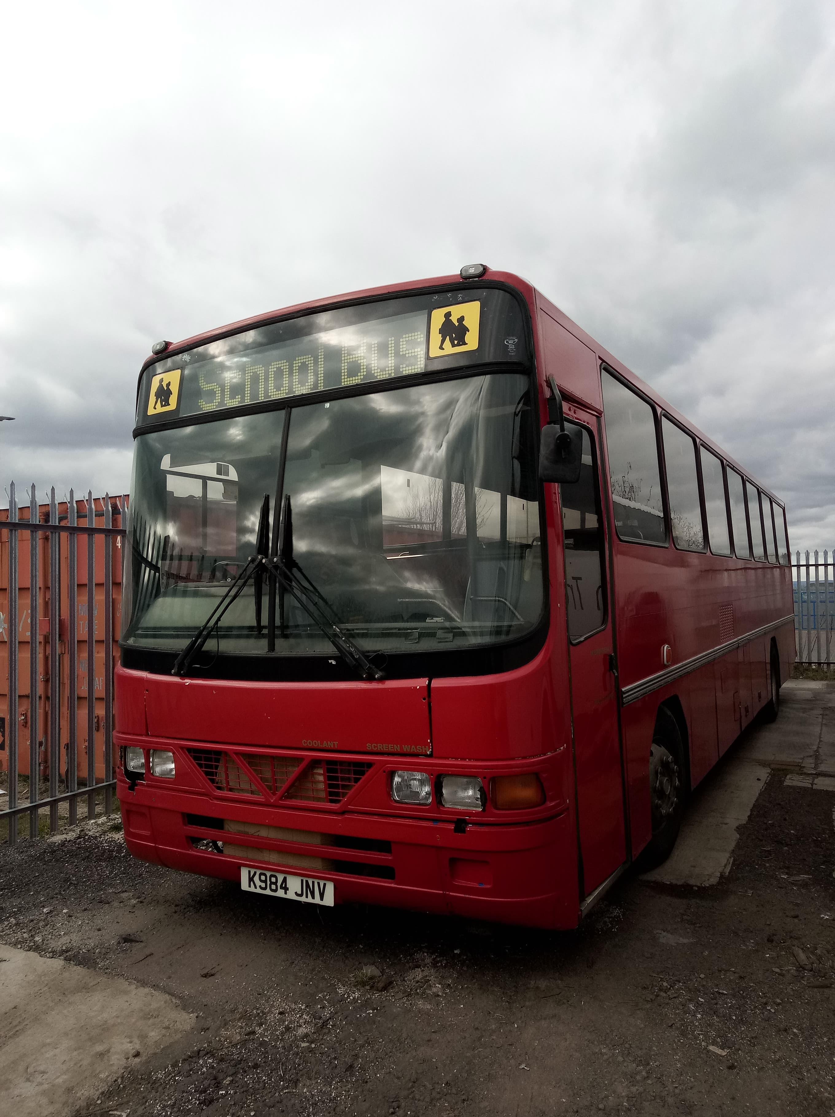 Leyland Tiger School Bus Registration K984 JNV, Date of Registration October 1992, Vehicle