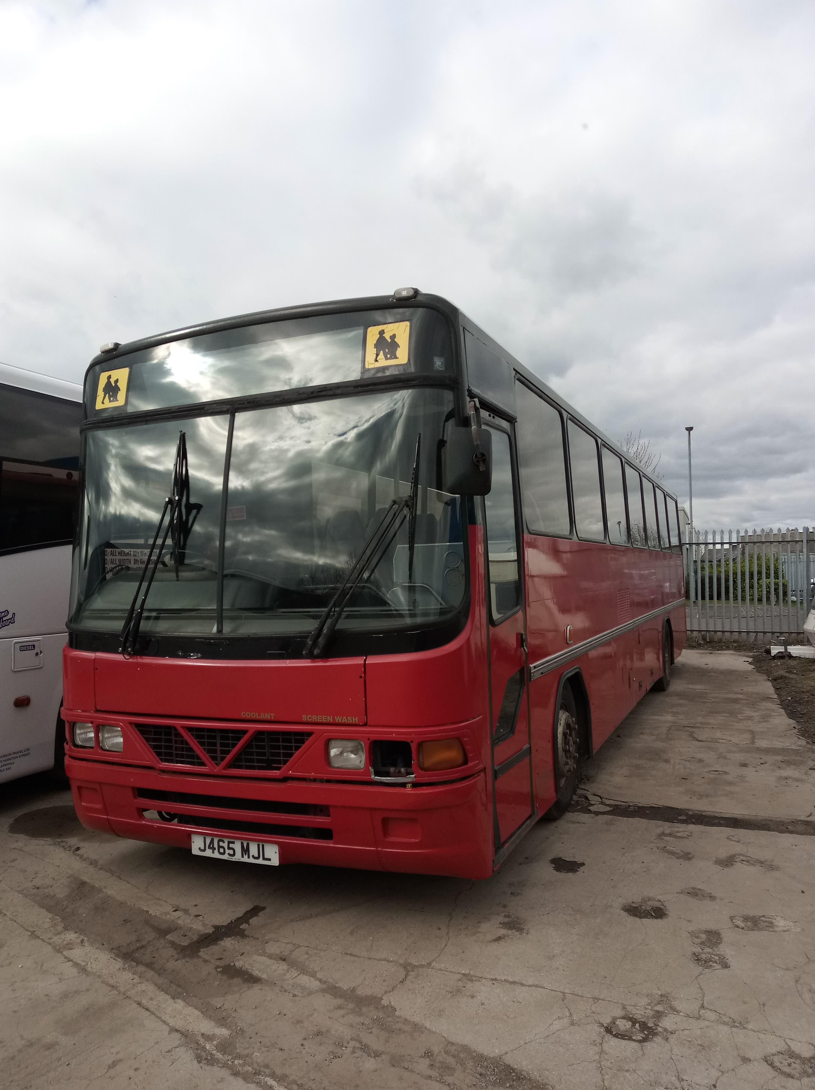 Leyland Tiger School Bus,Wright Endeavour Body, Registration: J465 MJL, Date of Registration- June