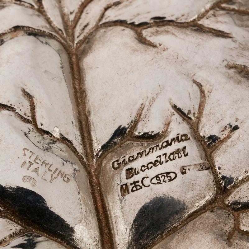 Gianmaria BUCCELLATI, Vide poche dessinant unen feuille de lierre, argent 925 MM, [...] - Image 2 of 2