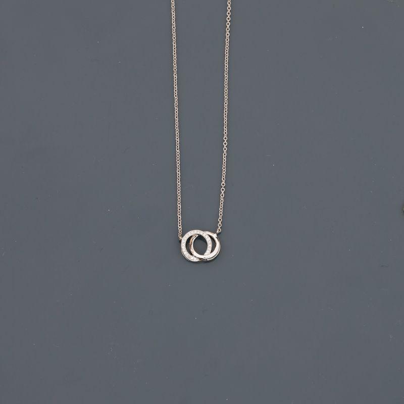 Los 14 - Collier en or gris, 750 MM, centré d'un motif orné de diamants, longueur : 45 cm, [...]