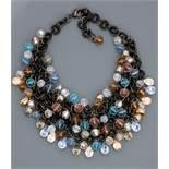 """Françoise MONTAGUE, Collier """" Plastron """" recouvert de perles en cristal Swarovski, [...]"""