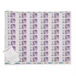 Banknote 10 Deutsche MarkDruckbogen, 1993 Ro. 303B, Serie GL, ungetrennt, mit leichter