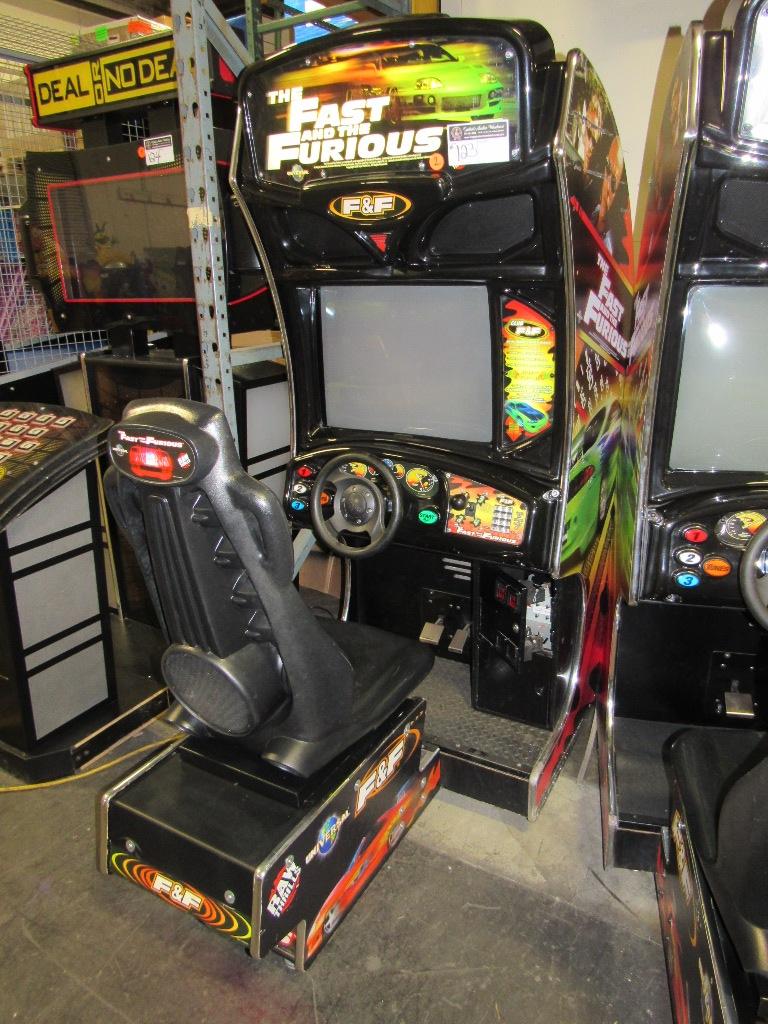 Lot 123 - FAST & FURIOUS DEDICATED RACING ARCADE GAME