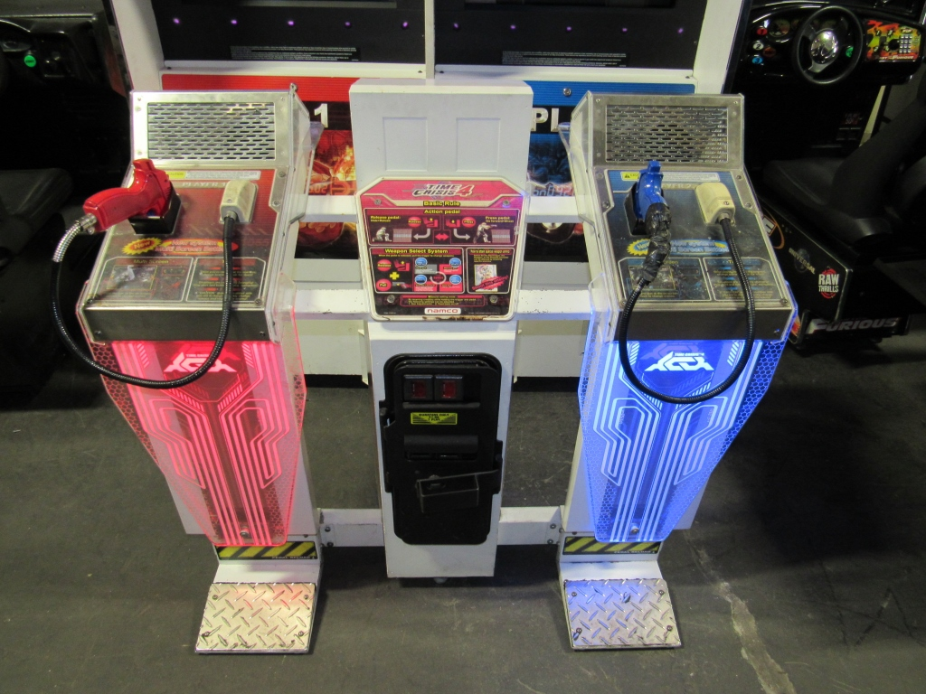 Lot 110 - TIME CRISIS 4 TWIN SHOOTER ARCADE GAME NAMCO