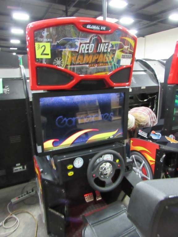 Lot 111 - RED LINE RAMPAGE DRIVER ARCADE GAME GLOBAL VR #2