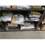 LOT - CONTENTS ONLY OF SHELF UNIT, TO INCLUDE: ROMEX WIRE, BALLAST, ETC.