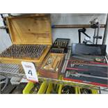 LOT - CALIPERS, LETTER STAMPS, INDICATOR STANDS